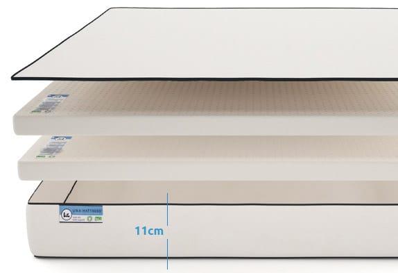 image of Organic cot mattress Una open