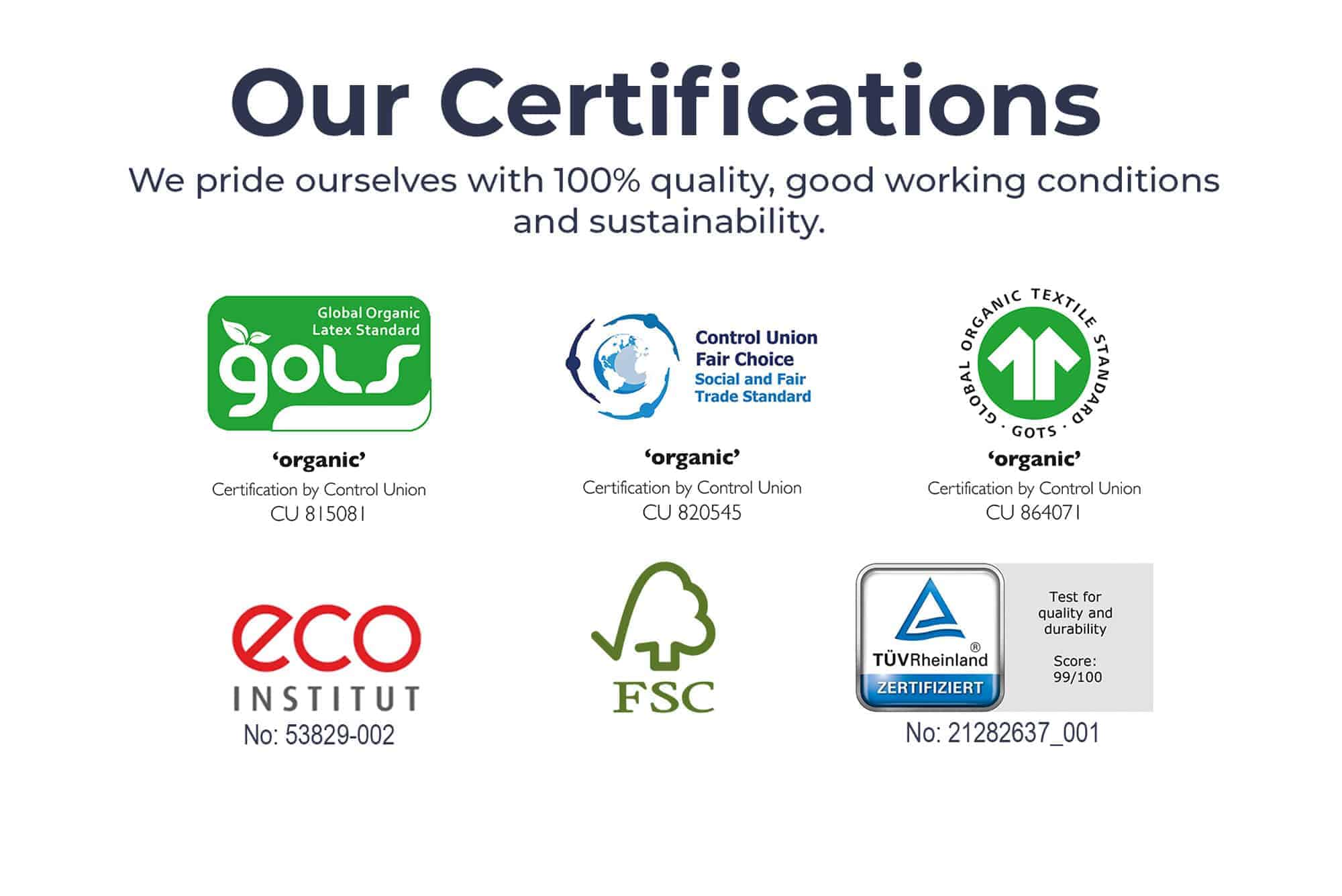 Image of Una Independent Organic Certified Eco and Durability Tested